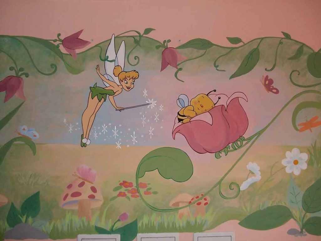 Kinderzimmer Wandmalerei Baby Kinder
